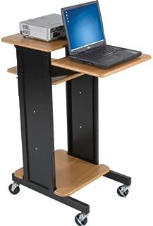 BALT Audio Visual Adjustable Presentation Cart, Teak Black, 40.25