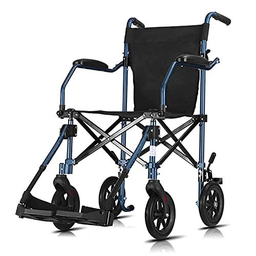 YQGOO Silla de Ruedas Plegable Liviana, Silla de Ruedas Manual Liviana portátil Plegable para Ancianos y discapacitados, diseño antivuelco