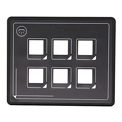 Funien Panel de interruptores de botones,2019 Nuevo panel de interruptor de botón de 12 v 24 v Película de 6 pines Control de circuito universal IP66 a prueba de agua con PPTC con cable USB y caja de
