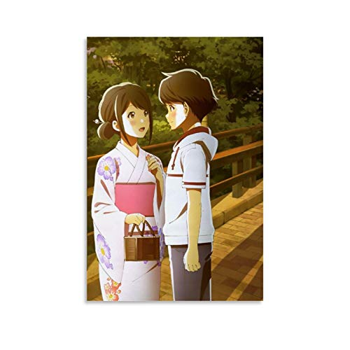 DSGDS 5 carteles de Tsuki Ga Kirei en lienzo para pared de anime japonés para paredes de dormitorio, estética, 60 x 90 cm