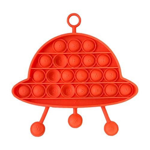 Hengjierun Juguete Fidget Sensorial De Burbujas, Alivio del Estrés con Forma De UFO Y Juguete Reductor De La Ansiedad Juguete De Apretón Sensorial De Burbujas Juguete De Silicona para Niños Adultos