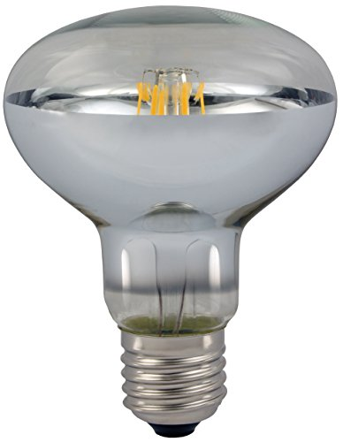 AdLuminis LED Reflektorlampe R80 E27 Fassung, klar, 4W, 380 Lumen, Energieklasse A++, ersetzt 35 Watt Glühlampe