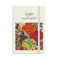 花は中国結びパターンは日本風の葉 歴史ノートクラシックジャーナル日記A 5