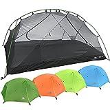 Hyke & Byke Tente de Camping et de Randonnée Zion 1 à 2 Personnes avec Bâche de Sol Incluse – Tente Ultralight Double Porte en Forme de Dôme