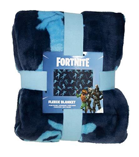 Fortnite Oficial, Poliéster. Polar poliéster, Azul, Fleece Blanket