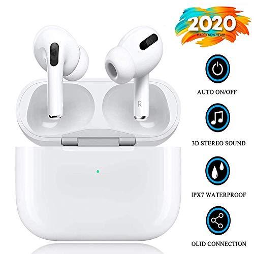 Auricular Bluetooth 5.0, Auriculares inalámbricos Bluetooth In-Ear Mini Auriculares Auriculares,emparejamiento automático emergente,Deportivos para Apple/AirPods Pro/Android/iPhone/Samsung