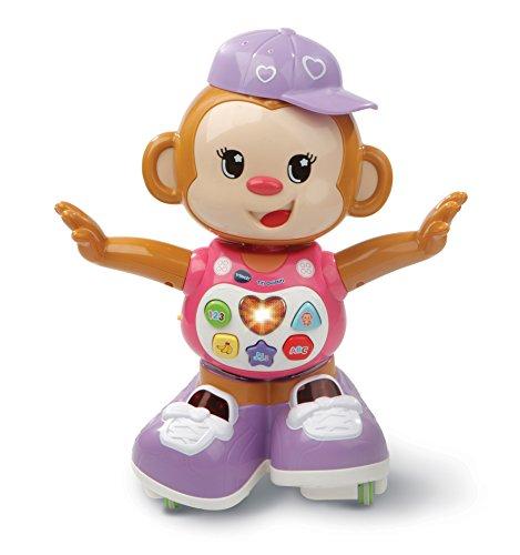 VTech - Titi Ouistiti – singe interactif – jouet singe – jouet bebe 12/36 mois – rose – Version FR