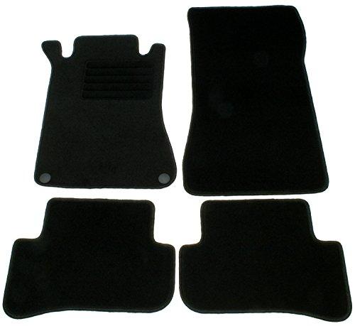 AD Tuning GmbH HG10200 Velours Passform Fußmatten Set Schwarz Autoteppiche Teppiche Carpet Floor mats
