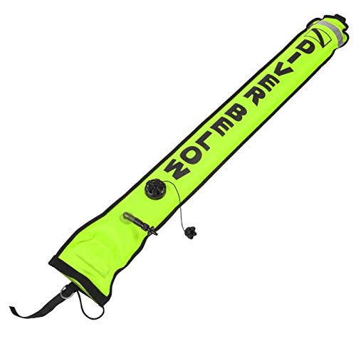 DAUERHAFT Accesorios de Buceo Tubo de señalización de Buceo Boya de Buceo, para Buceo, para Seguridad en el Buceo(Fluorescent Yellow)