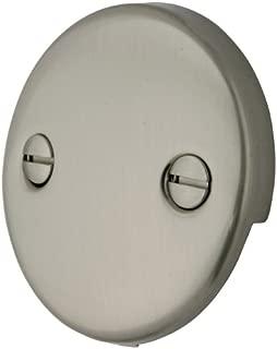 Kingston Brass DTT108 Bath Tub Overflow Plate, Brushed Nickel