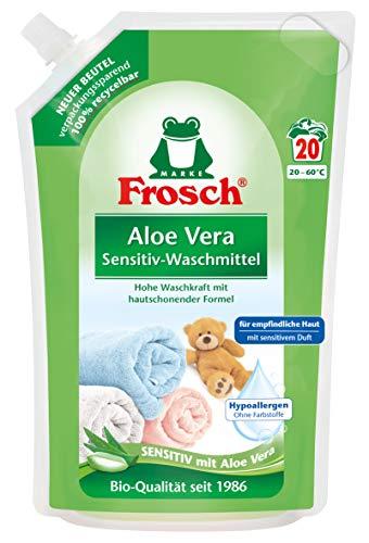 günstig 5 Frosch Aloe Vera Waschmittelpackungen (5 x 18 Ladungen) Vergleich im Deutschland