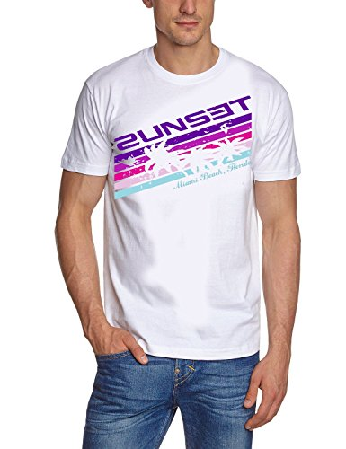 2UNSET ! T-Shirt Vintage Weiss/Lila Gr.S