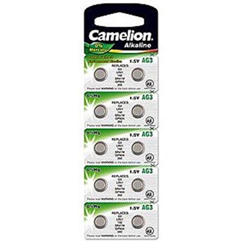 Camelion 1,5V Knopfzelle Quicksilberfrei AG3, LR41, GP92A, 392, SR41W