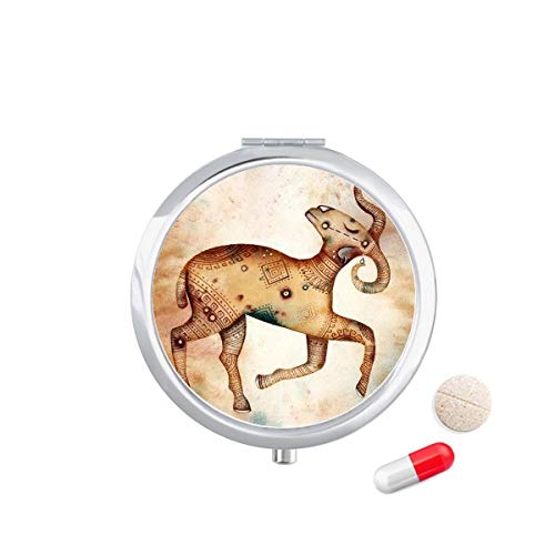 DIYthinker maart april Ram sterrenbeeld Zodiac Travel Pocket Pill Case Medicine Drug Opbergdoos Dispenser Spiegel Gift
