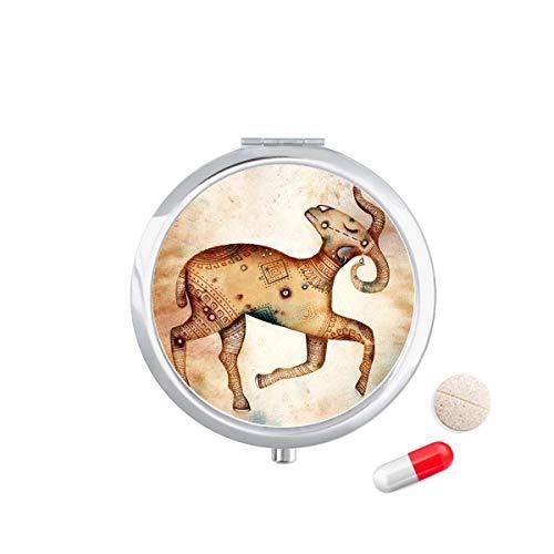 DIYthinker maart april Ram sterrenbeeld Zodiac Travel Pocket Pill Case Medicine Drug Opbergdoos Dispenser Spiegel Gift