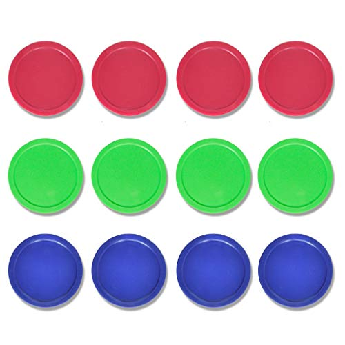 Cheapest Price! Lemon home 12 Pack 3 1/4 Inch Air Hockey Pucks for Full Size Air Hockey Tables - Lar...