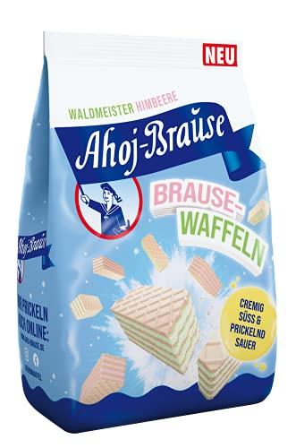 Brause-Waffeln – Knusprig, fruchtig,frisch! – Prickelnder Brause-Spaß für Klein und Groß – In 2 Geschmacksrichtungen: Himbeer und Waldmeister – Beutel (1 x 150 g)