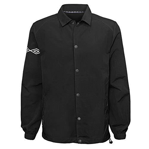 Umbro Packable Coaches Jacket, Black Beauty, S