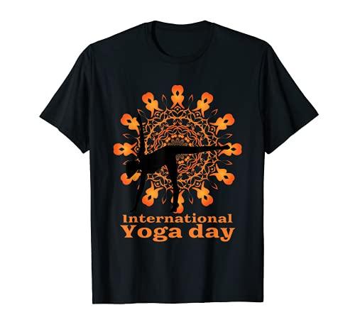 Funny International Yoga Day Design For Women - Men - kids T-Shirt