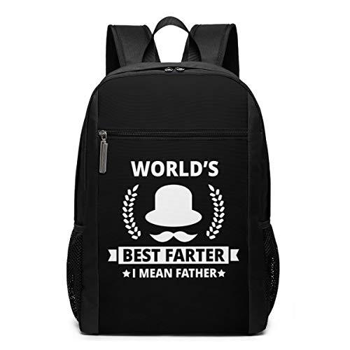World's Best Farter, I Mean Father Laptop Backpack 17-Inch Travel Backpack Bookbag Bussiness Bag