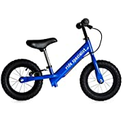 """Ride Specialist 12"""" Balance Bike for Kids and Toddlers Aged 18 Months to 5 Years Old – Lightweight Training Bicycle with Rubber Air Tires and Brakes (Blue)"""