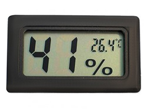 ISO TRADE LCD Digital Thermometer Hygrometer mit Sonde Aquarium Reptil -50C bis +110C 800