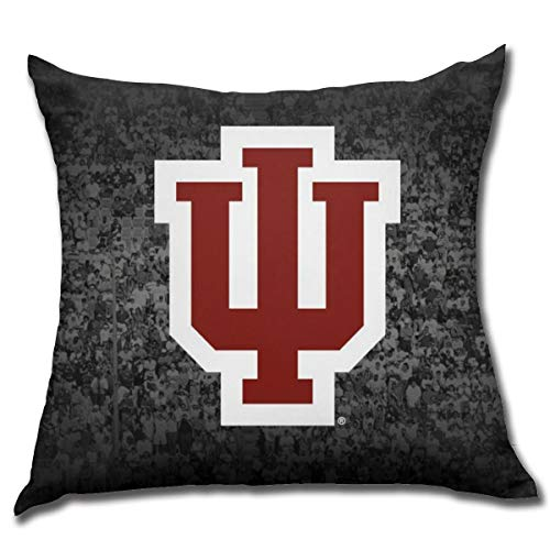 Fremont Die Indiana Hoosiers Square Pillow Square Decoration,Pillow,Pillowcase,Bed Home Decoration,Cushion Cover,Home Decor Sylish 18x18 Inches