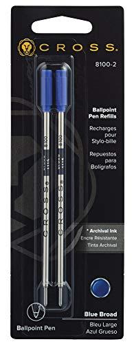 Cross 8100-2 - Recambio para bolígrafos (2 unidades, tinta azul)