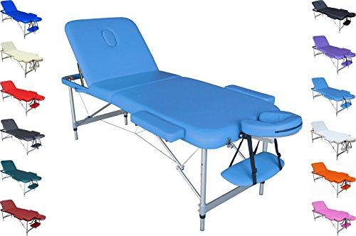 Polironeshop Mercurio Lettino Portatile Alluminio per Massaggi estetica Fisioterapia Tattoo