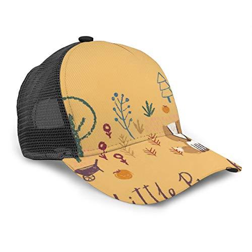 FONDSILVER Gorra de béisbol diseño de Conejo de Madera y...