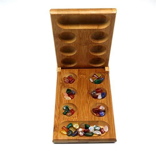 Kissherely Klassiker Holz Mancala Brettspiel Kinder Strategie Tsum Mancala Stones Spiele, einfach zu speichern Travel Size