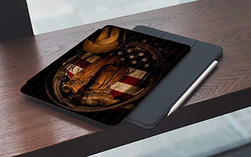 MEMETARO Funda para iPad 10.2 Pulgadas,2019/2020 Modelo, 7ª / 8ª generación,Botas Vaqueras Occidentales en la Bandera de Estados Unidos, Smart Leather Stand Cover with Auto Wake/Sleep