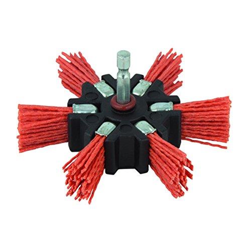 Wolfcraft 1512000 cepillo abanico de nylon, vástago hexagonal 1/4