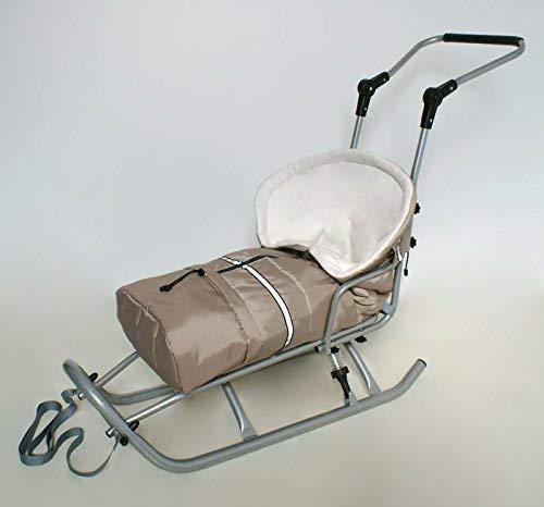 Babyfußsack Fußsack für Schlitten Kinderwagen beige/weiß