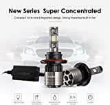 Auxbeam LED Headlight Bulbs F-T1 Series H13 LED Headlight Bulbs with 2 Pcs of Led Conversion Kits 70W 8000lm LED Chips Hi-Lo Beam with Temperature Control