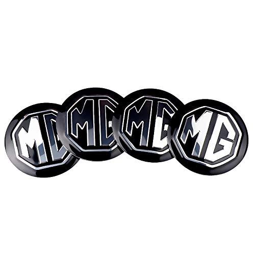 Tapas De Cubo De Centro De Rueda tapas de cubo ce 4 unids 56mm rueda de automóvil CAP CAP DE Decoración Etiqueta engomada de la placa de la placa Calcomanía a prueba de polvo Compatible con MG ZS GS 5