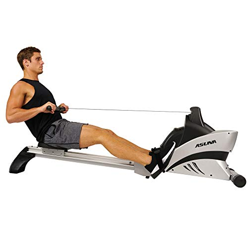 ASUNA 4500 Commercial Folding Rowing Machine Rower with Included Heart Rate Monitor Belt, 300 LB Max Wait, LCD Display and 40 inch Aluminum Slide Rail Inseam
