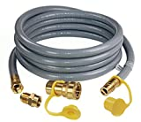DOZYANT 12 Feet 1/2 inch ID Natural Gas Grill Hose with Quick Connect Fittings Assembly for Low...
