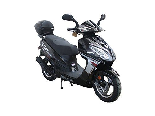Smart Deals Now Brings 49cc 50cc Big Size Gas Street Legal Scooter Moped TaoTao EVO 50 - Jet Black Color