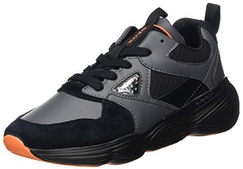GEOX J BUBBLEX BOY A BLACK/ORANGE Boys' Trainers Low-Top Trainers size 33(EU)