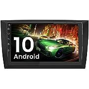 AWESAFE Android 10 Radio für VW Golf 6, 2G+32G, 9 Zoll Touchscreen, mit Blende, Navigation Bluetooth MirrorLink RDS WiFi Unterstützung