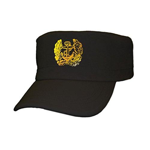 deutsche Marine Eichenlaub Anker Bundeswehr Bund Bw Deutschland - Cap Kappe Baseballcap Kopfbedeckung (kahki 5,5cm x 5,5cm) #12358