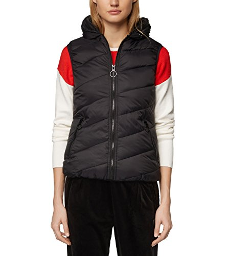 Bench Damen CORE Puffer Vest Outdoor Weste, Schwarz (Black Beauty Bk11179), X-Large (Herstellergröße: XL)
