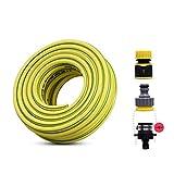 Gartenschläuche - Gelb, UV-und Frostschutz PVC-Wasser-Hosepipe, 3-Schichtverbund Reinigungsrohr, 12 mm / 19 mm (Farbe: 3/4', Größe: 20 m) plm46 (Color : 3/4', Size : 15m)