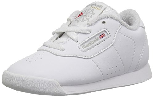Reebok Baby Princess Sneaker, White/Grey, 9.5 M US Toddler