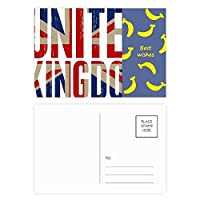 英国の英国国旗ユニオンジャックビッグ・ベン バナナのポストカードセットサンクスカード郵送側20個