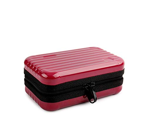 Cosmetic Cases Makeup Box Makeup Storage Cosmetic Bags Beauty Case Trel Bags Display Case,red