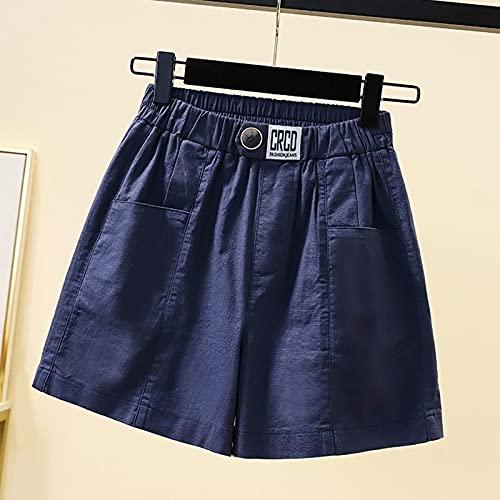 ShFhhwrl Modernamente Simple y generosoPantalones Cortos De Mujer Denim Sexy Beach Pantalones Cortos Casuales De Lino De Algodón para Mujer