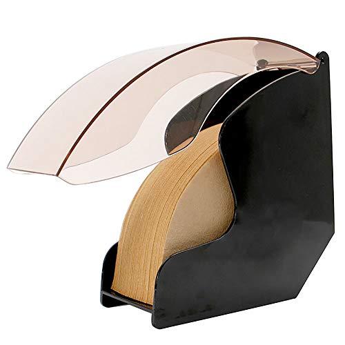 Kaffeefilterhalter Mit Deckel Acryl Kaffeefilter Spender Regal Regallager Ohne Filterpapier Fächerförmige Kaffeefilter Halterung