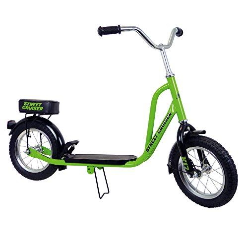 Caramba Tretroller Street Cruiser - Bicicleta, color verde, talla 12 pulgadas